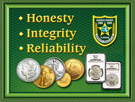 The Saint Petersburg Jewelry & Coins Honesty, Integrity, and Reliability poster