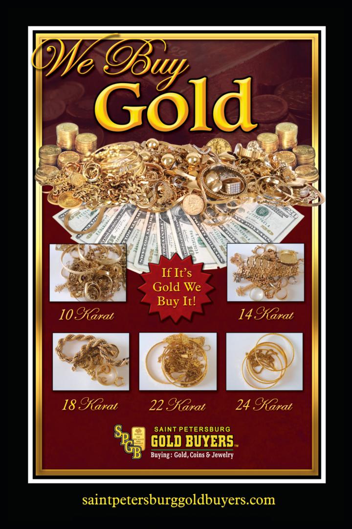 GOLD POSTER BURGANDY QTY 3